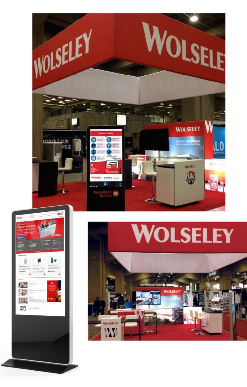 Wolseley-Kiosk for tradeshow